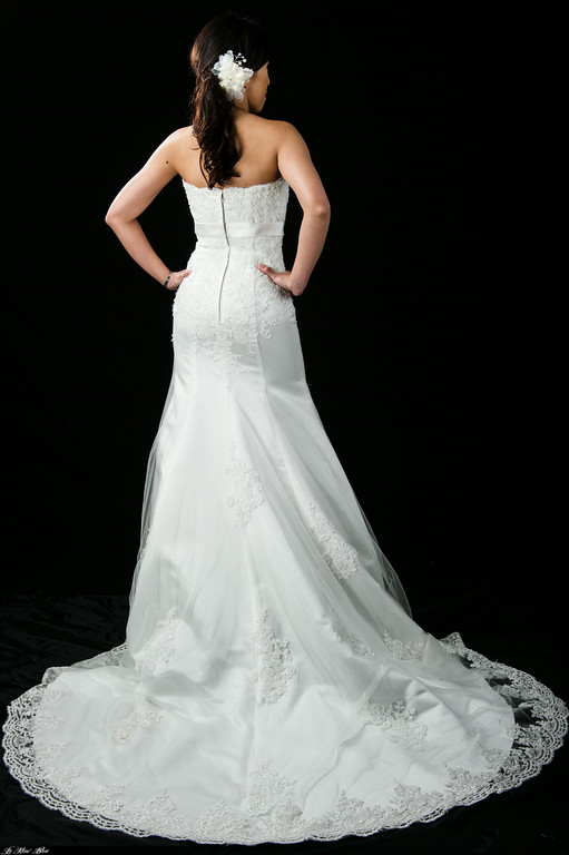 Lace Wedding Gowns Perth : Strapless lace mermaid wedding gown tl b mon belle bridal