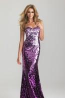 N6627 purple sequin evening dress