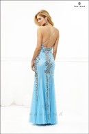 F7113-tiffany blue evening dress