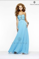 Faviana prom dress 7366-marine-blue