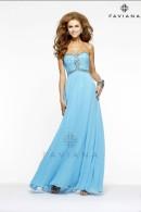 Faviana prom dress 7366-marine-blue