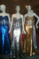 C2074 corset bodice sequin evening dresses