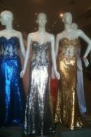 C2074 corset bodice sequin evening dresses