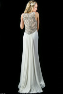 LL2345 Beaded Illusion back EveningDresses