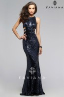 F7705-unique cutouts sequin dresses