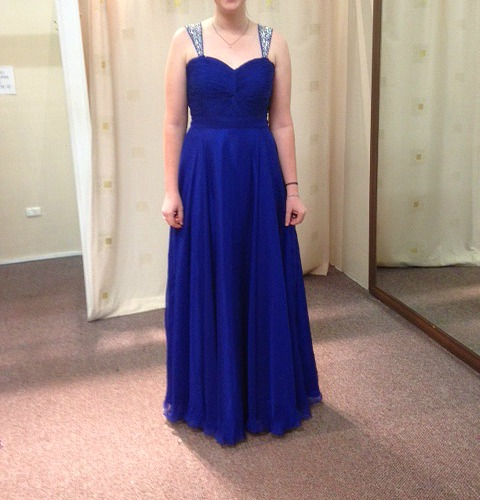LL007 Vstrap evening dress