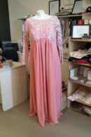 LL009 DustyPink evening dress