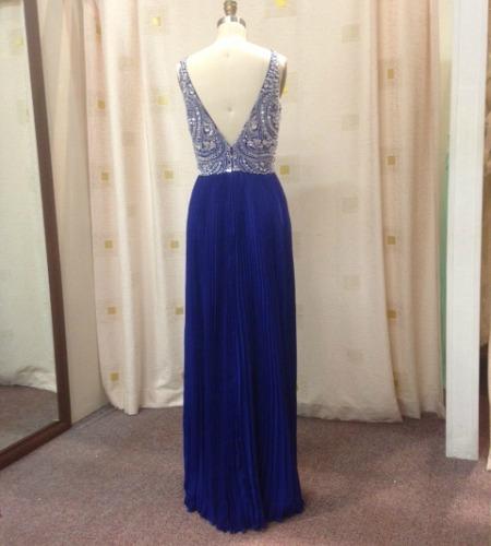 LL010RB low Vback evening dress