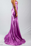 LL012 satin evening dress
