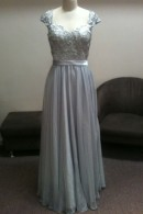 LL014 Silver-evening-dress