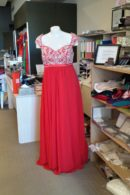 LL014EmpireWaist evening dress
