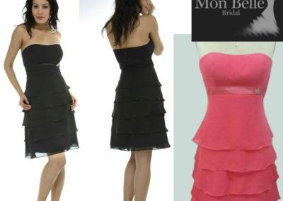 M7022 custom colors multi layers bridesmaid dresses