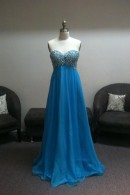 O1693 prom dress without petticoat