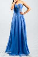 O2077 Sweetheart neckline chiffon flowing skirt ball gown