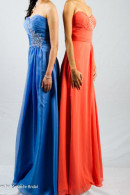 O2077 custom color chiffon evening dress
