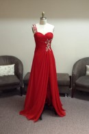 O2109 evening dress with slit