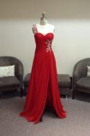 O2109 evening dress with slit