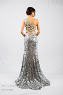 O2119 Sequin Balldress with exquisite backdetails