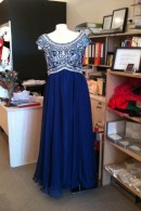 O2363 cap sleeve ball dress