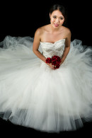 S1358 Silver Embellished fit&flare Wedding Gown