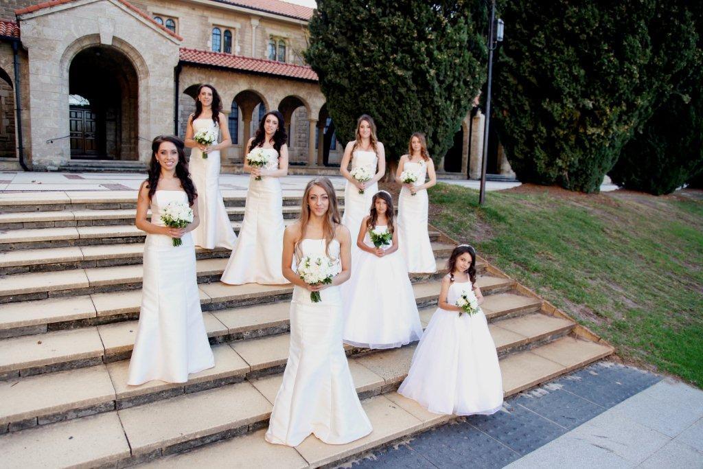Customer Vanessa beautiful flowergirls and bridesmaids