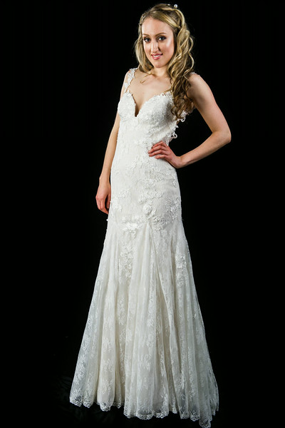 Vintage Lace Sheath Wedding Dress L201503