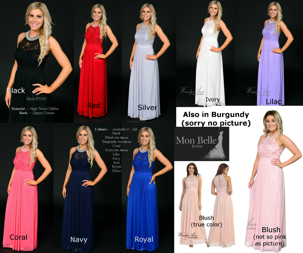Bridesmaid dresses perth mon belle bridal waf5101 bridesmaid dresses colours ombrellifo Image collections