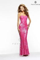 FS7374 sequin evening dress