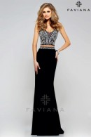 FS7524-navy 2-pc prom dress