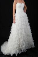 B1099 beaded bodice multitier frills wedding dress