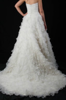B1099 frill skirt A-line wedding dress with train