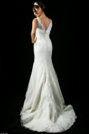 B1109 Vback Lace wedding dress