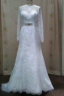 C1502 long sleeve wedding dress