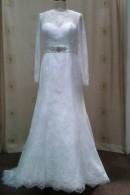 C1502 long sleeve wedding dress