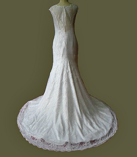 C1506 illusion lowback wedding gown