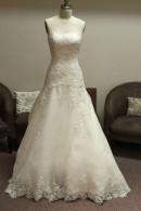 D1419 strapless organza wedding dress