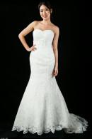 D1657 Laser-cut applique mermaid Wedding Gown