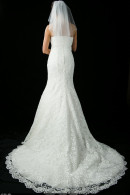 D1657 wedding dress with train