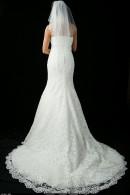 D1657 wedding dress with train