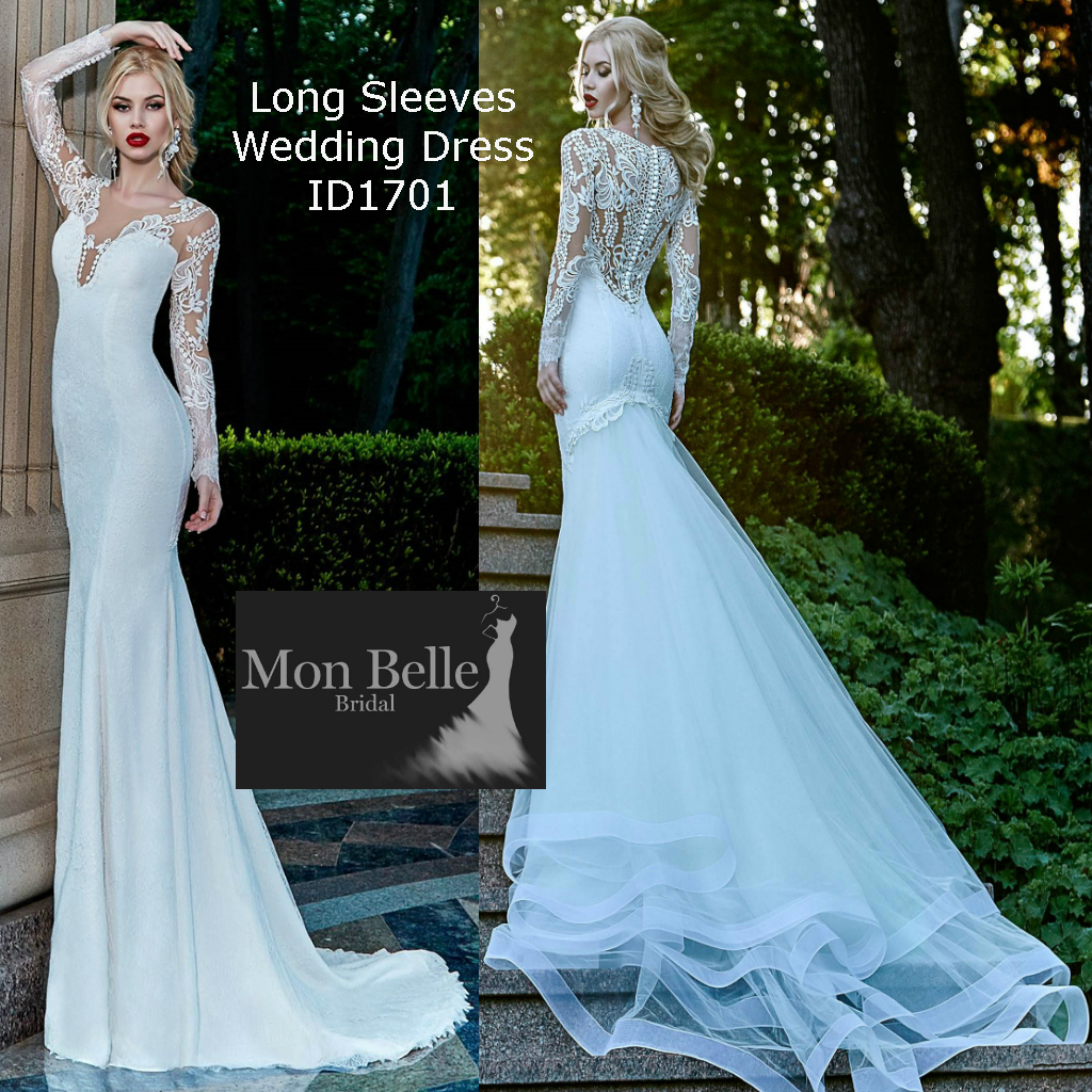 Wedding dresses perth mon belle bridal id1701 long sleeves wedding dress ombrellifo Images