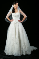 K1213 sweetheart corsetted A-line wedding dress