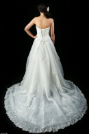 K1213 wedding dress with train