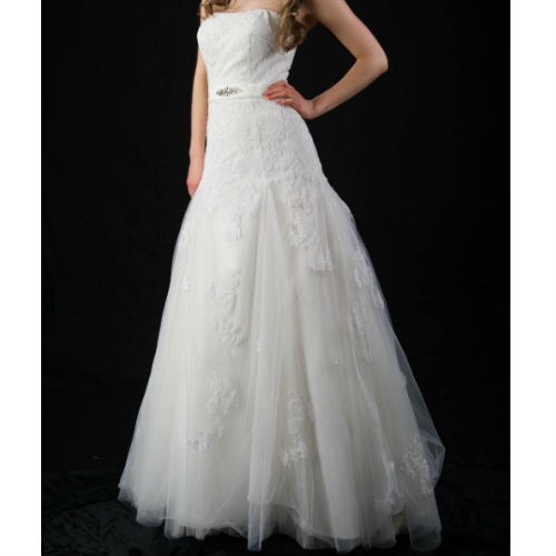 K1312 strapless lace wedding dress