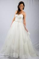 K1416 Organza Princess Wedding Dress