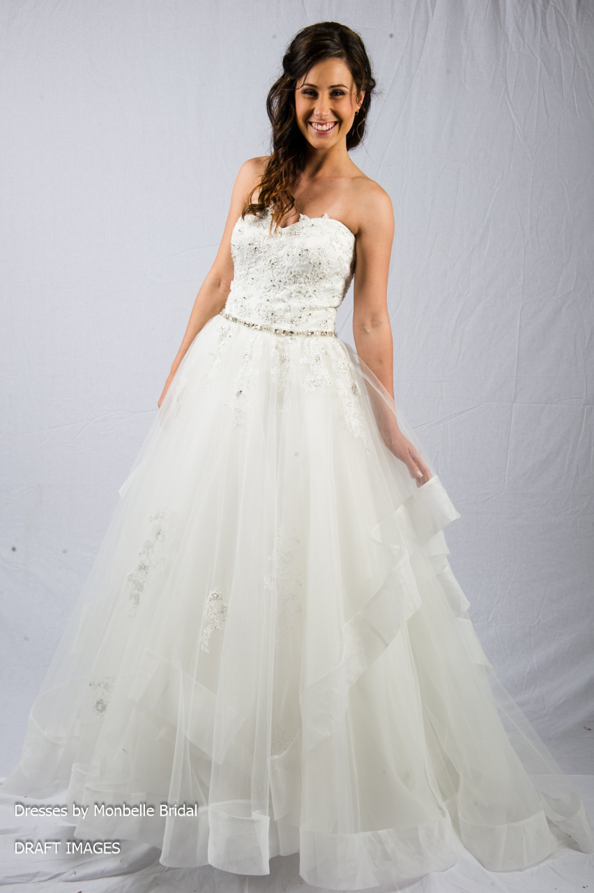 K1416 Organza Princess Wedding Dress