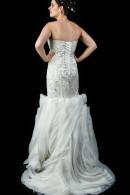 K3239 mermaid bodice with rosette skirt wedding dress