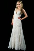 L1503 Vintage Lace Sheath Wedding Dress