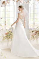 Avenue Diagonal PASHA illusion low back wedding dress with court train