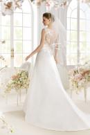 Avenue Diagonal PASHA illusion low back wedding dress with court train