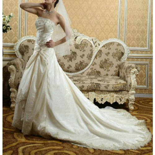 DH813 A-line wedding dress
